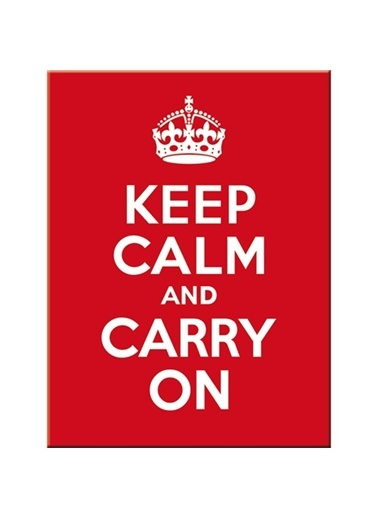Keep Calm and Carry On Magnet 6x8 cm-Nostalgic Art
